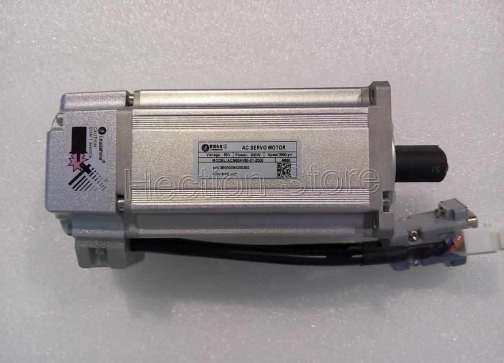 400W New Leasshine ACM604V60-01-2500 AC servo motors Running 3000RPM speed have 1.27NM with 2500 encoder fit Servo drive ACS806 encoder utsih b17ck suitable for yaskawa series servo motors sgmgh 05aca61 09aca61 13aca61 20aca61 30aca61 44aca61 55aca61
