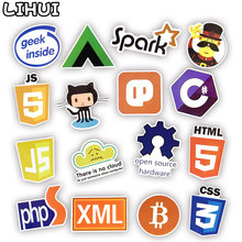50 PCS Cool Programming Stickers Logo Internet Software Sticker Funny Gift for Geeks Hackers Developers to DIY Laptop Phone(China)