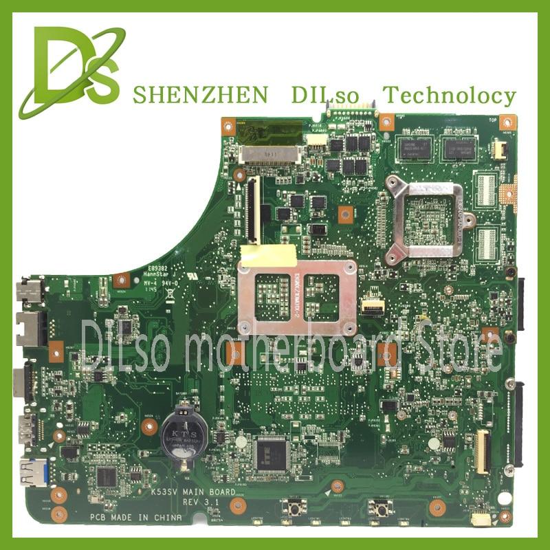 KEFU K53SV Laptop Motherboard K53SV REV 3.0/3.1/2.1 Fit For ASUS K53S A53S X53S P53S Notebook 100% tested original k53sv motherboard mainboard rev 2 3 rev 3 0 rev 3 1 fit for asus k53s a53s x53s p53s notebook n12p gs a1 gt540m