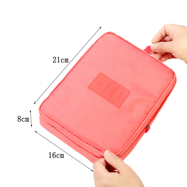 High Quality Portable Women Make Up Cosmetic Bag  1