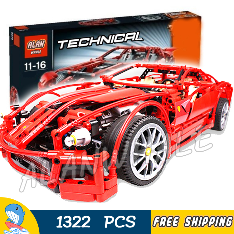 1322pcs Technic Formula Racing Car Racers 1:10 scale 599 GTB 3333 Model Building Blocks Educational DIY Toy Compatible With lego цена