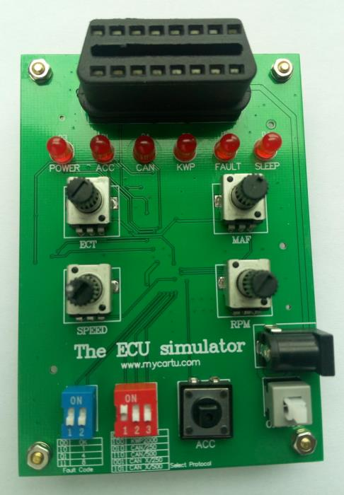 Automobile OBD simulator, ECU simulator, OBD simulation, development and simulation, automobile bus communication protocol