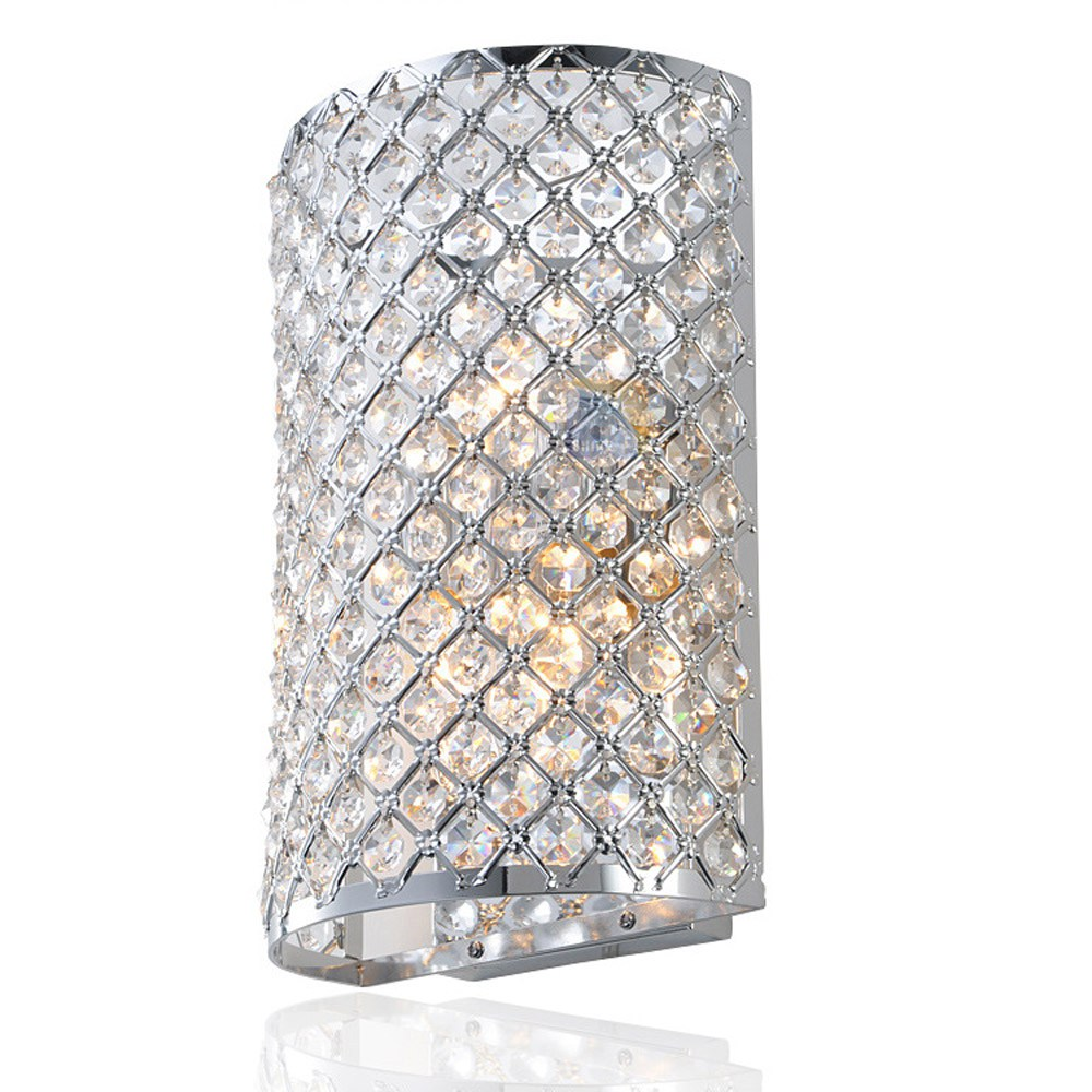 Luxury Royal Crystal Embedded Bedroom Wall light Free Shipping Modern Polished Chrome Plaid Base Living/Meeting Room Wall LampLuxury Royal Crystal Embedded Bedroom Wall light Free Shipping Modern Polished Chrome Plaid Base Living/Meeting Room Wall Lamp