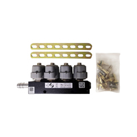 2ohm 12DC CNG LPG Injection Rail high speed Common Injection Rail gas injector and accessories