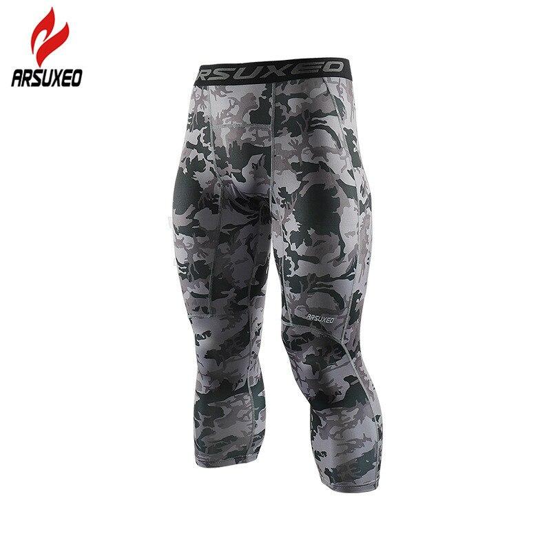 c463f37001087 ... de compresión de los hombres pantalones corriendo medias polainas  camuflaje transpirable deportes Yoga Jogging entrenamiento pantalones ropa  deportiva
