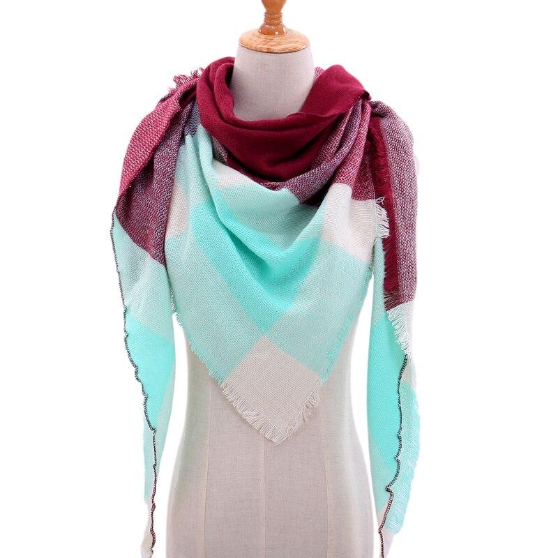 Бандана палантин платок на шею шарф зимний Дизайнер трикотажные весна-зима женщины шарф плед теплые кашемировые шарфы платки люксовый бренд шеи бандана пашмина леди обернуть - Цвет: b1