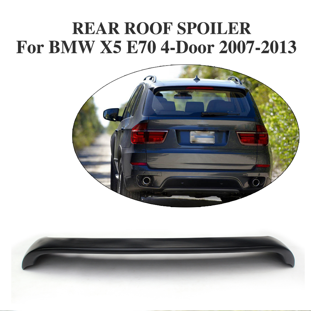 Rear Roof Wing Lip Spoiler Sticker for BMW X5 E70 4-Door 2007-2013 FRP Black Car Tuning Parts image