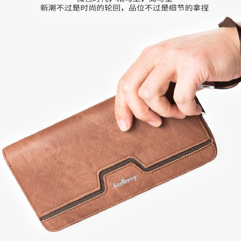 Newest style mens long high quality PU leather zipper vintage, antique wallets purse clutch for man with Wrist strap S1513