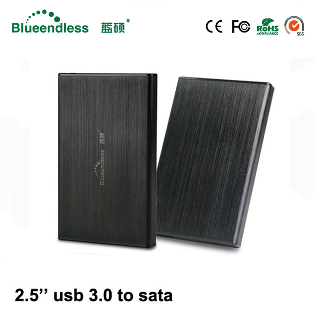 Carcasa hdd de disco duro 2,5 para ordenador portátil caja de aluminio hdd 2,5 sata usb 3,0 hdd con disco duro externo 1 TB