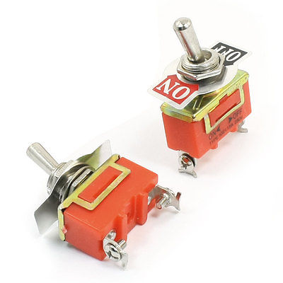 Panel Mount ON/OFF SPST Rocker Type Toggle Switch AC 250V 15A E-TEN1021 2pcs 4 10pcs 250v 15a kn1322 toggle switch 6 pins touch on off switches mini small switch controlling the circuits of ac or dc