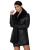 Zeagoo Invierno de Las Señoras Abrigo de Piel Sintética de Manga Larga Abrigo de Cuello de Piel Sintética Medio-larga Capa de Las Mujeres Outwear la Piel de Imitación abrigo