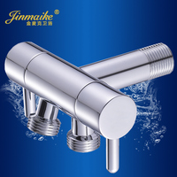 Copper Multi Function Three Way Angle Valve Into Two Out Of The Double Valve Water Valve