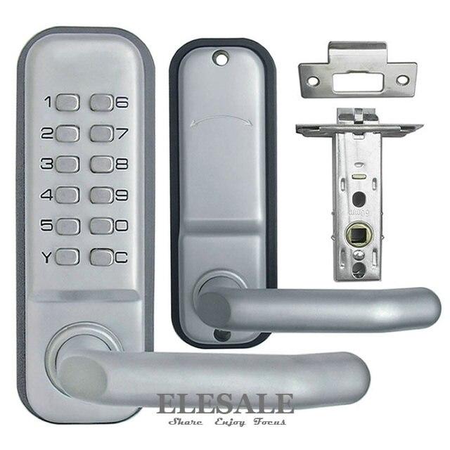 New Zinc Alloy Keyless Mechanical Door Lock Combination Digital Code Deadbolt Lock With Handle Non Power Lock Access Control