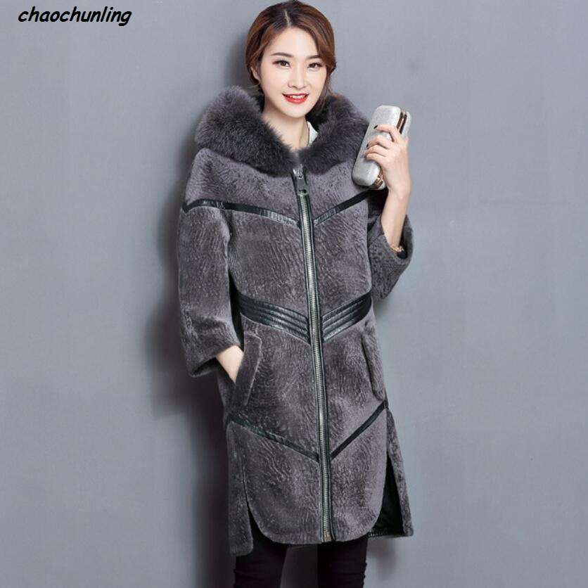 2017 New Lady Coats Winter Jacket Leather 100% High Quality and Sexy Women Fashion Real Fur Super Warm Thick jacket lady thick jacket 2017 new autumn and winter england style high quality women leather100