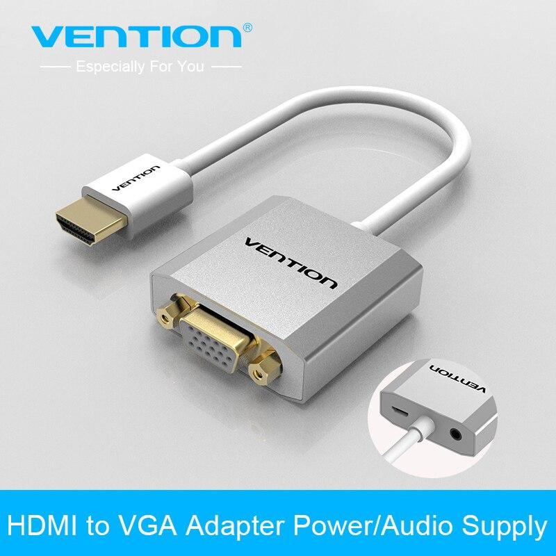 Intervento HDMI a Vga Cavo del Convertitore Analogico Video Audio con micro USB interfaccia aux per Xbox 360 PS4 PC TV Del Computer Portatile Box