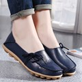 High Quality Women Shoes Leather Beanie Flat Shoes Summer Spring Autumn Slip-on Knot Non-slip Woman Ladies Soft Loafers Flats