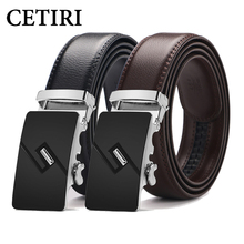 CETIRI Top Male Genuine Leather Belt Men Automatic Buckle Ratchet Belts For Men Formal 3.5cm Wide Luxury Brand Belt 2018 Kemer