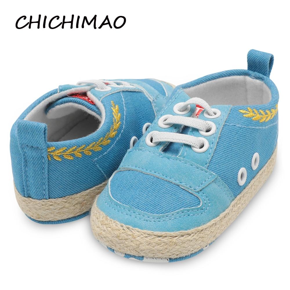 Toddler Newborn Shoes First Walker Cotton Autumn Winter Fashion Baby Kids Boy Girl Soft Sole Canvas Sneaker 0-18 Months