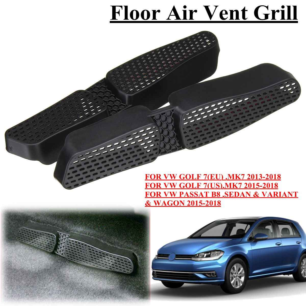 Car Under Seat Floor Air Duct Vent AC Outlet Protective Cover Grille with  adhesive For VW Golf 7 MK7 Passat B8 EU ES