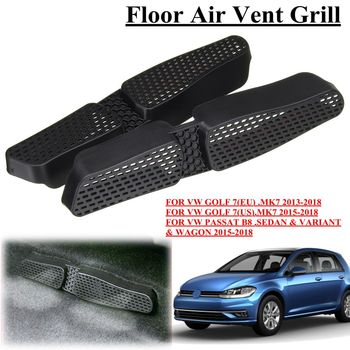 Car Under Seat Floor Air Duct Vent AC Outlet Protective Cover Grille with adhesive For VW Golf 7 MK7 Passat B8 EU ES grille