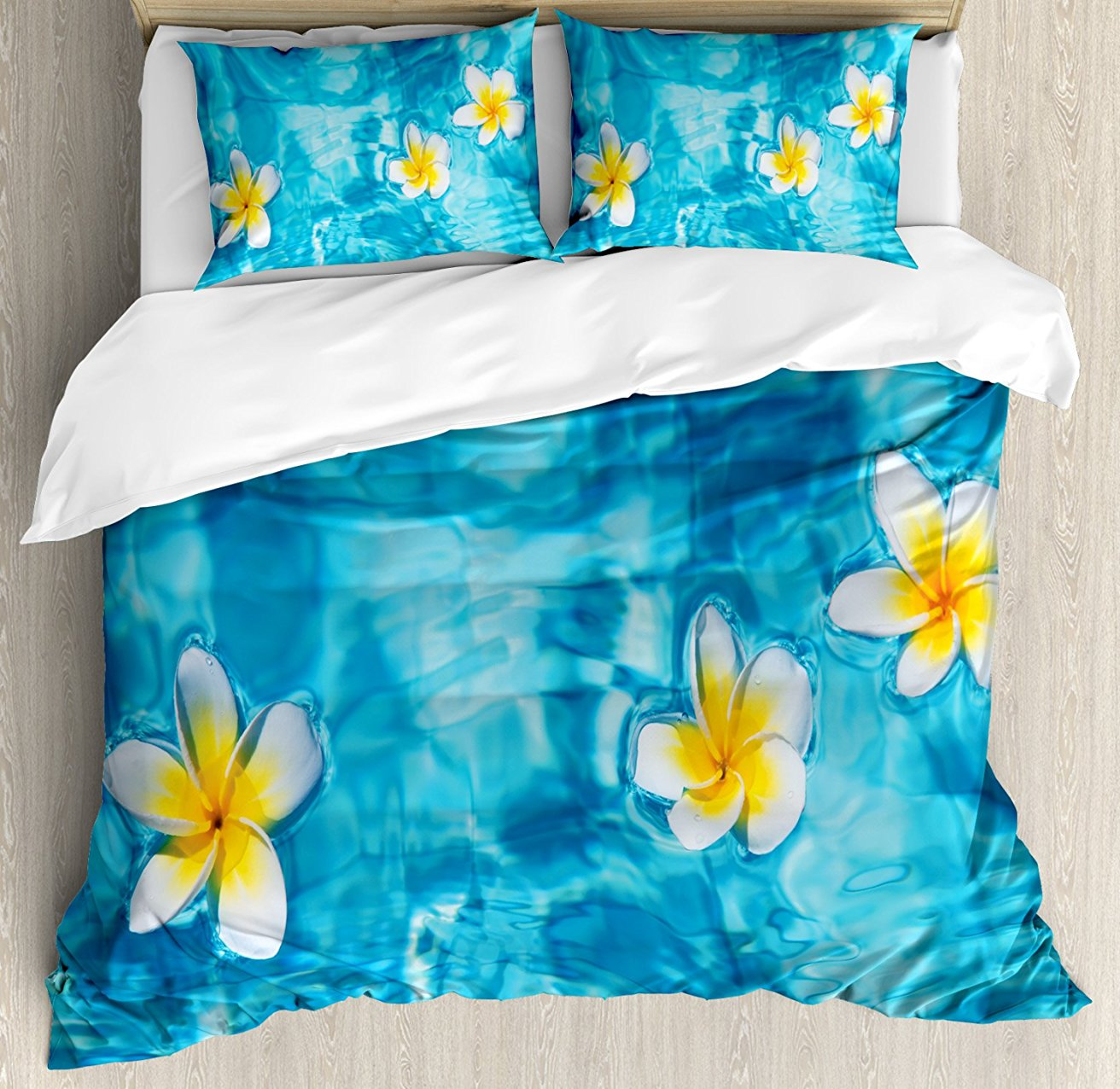 Home & Garden Bedding Sets Tropical Duvet Cover Set Modern Illustration Of A Tropical Beach With Palm Trees And Hammock Hawaiian Relax 4 Piece Bedding Set