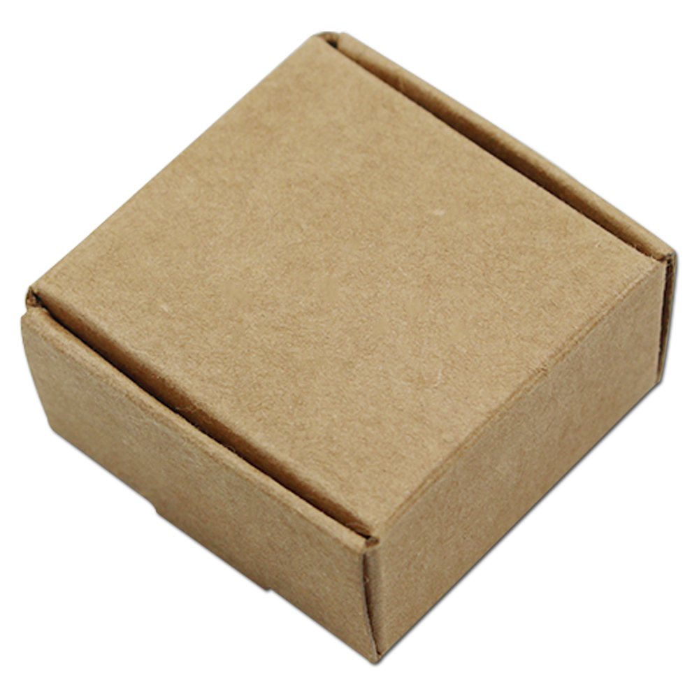 100Pcs Lot 9 5 9 5 3 5cm Kraft Paper Box Jewelry Box Gift Packaging For