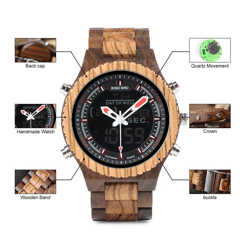 P02-3Men's watch wood