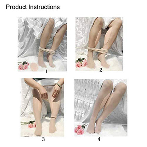 Image 5 - Ajusen 300g/Pair Leg Correctors Silicone Leg Onlays Soft self adhesive Pads for Crooked Thin Legs Body Beauty