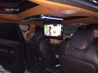 RoverOne 14 дюймов все в одном DVD автомобиля авто на крыше мониторы флип подпушка тонкопленочный плеер с жк дисплеем 1080 P USB FM HDMI SD сенсорная кнопка
