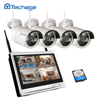 Techage 2 In 1 1080P LCD Monitor Wireless CCTV System 11 7 Screen NVR Night Vision