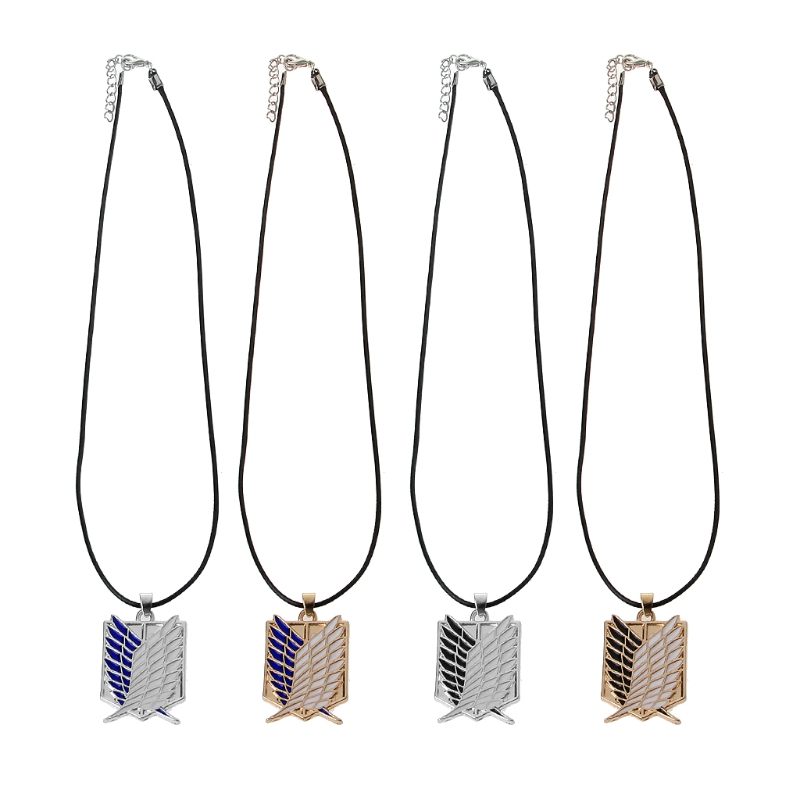Wings of Freedom Titanium Cosplay Pendant Necklace Men Attack on Titan Jewelry