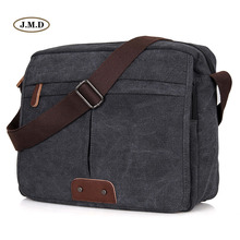 68cda35f71fd J.M.D Causal Classic Style High Quality Leisure Fashion New Canvas Durable  Shoulder Bag Business Laptop Crossbody