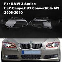 Left Right Transparent Car Housing Headlight Lens Shell Cover Lamp Assembly For BMW E92 E93 M3