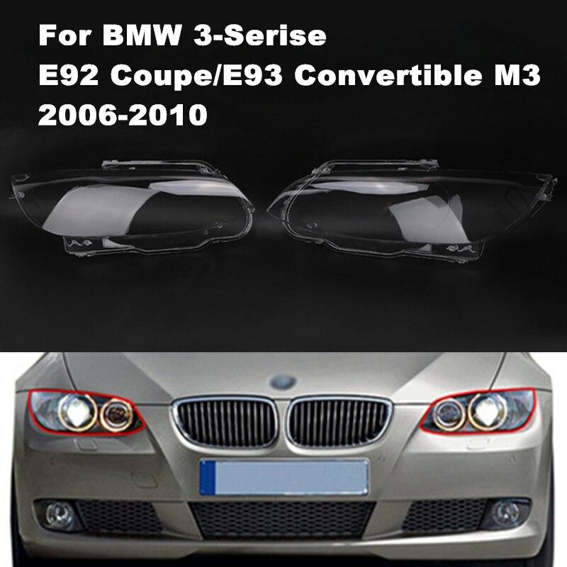 Left / Right Transparent Car Housing Headlight Lens Shell Cover Lamp Assembly For BMW E92 E93 M3 320i 325i 328i 335i 2 Door /