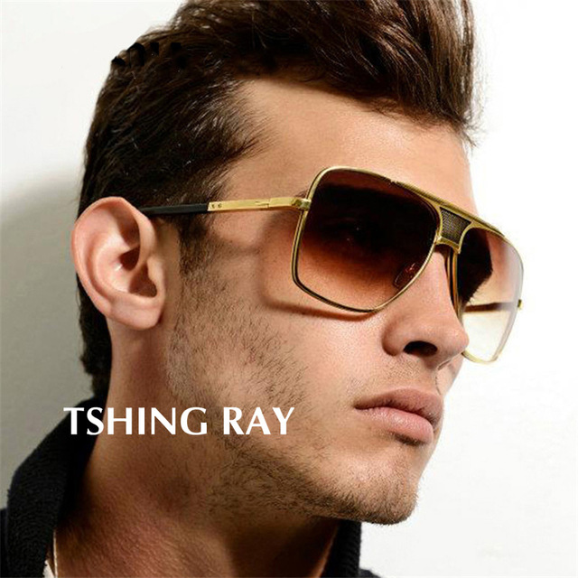 35f73ae700e TSHING RAY 2018 New Luxury Brand Designer Oversized Square Men Sunglasses  Vintage Driving Big Size Sun