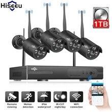 Hiseeu 4CH 960 P NVR Беспроводная система видеонаблюдения комплект видеонаблюдения WiFi наружная ip-камера обнаружения движения 1 т IP Pro