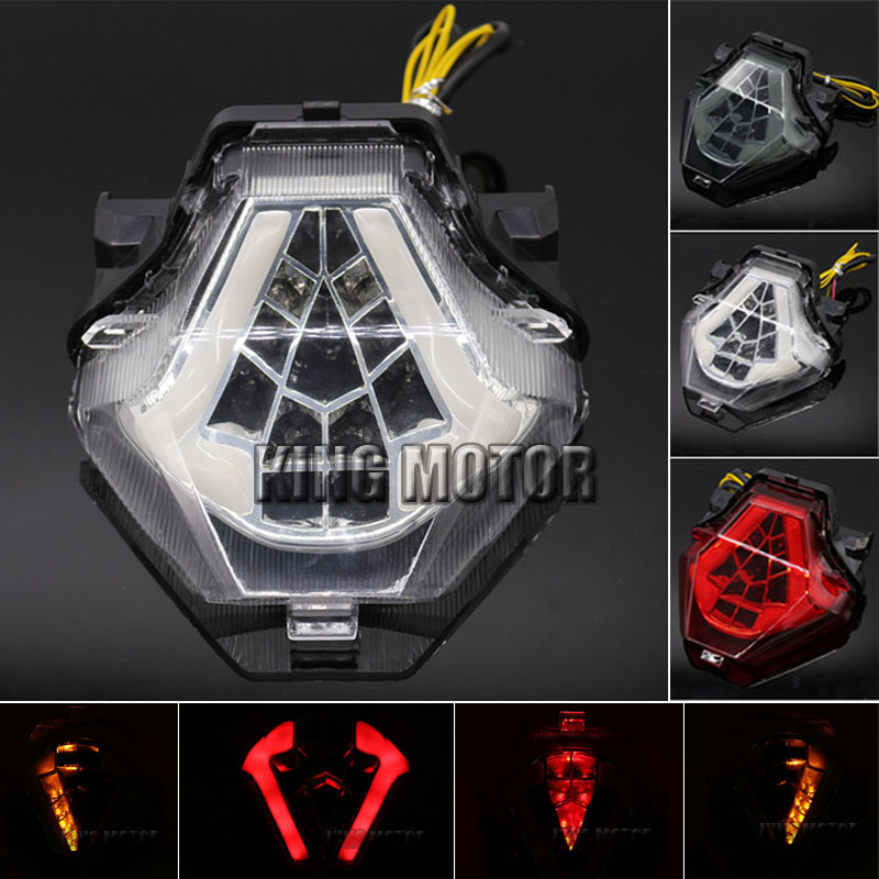For YAMAHA MT-07 FZ-07 MT07 FZ07 2014-2016 YZFR25 14-15 YZFR3 R25 R3 Integrated LED Tail Light Turn signal Blinker Lamp Clear for yamaha fz 09 mt 09 fj 09 mt09 tracer 2014 2016 motorcycle integrated led tail light brake turn signal blinker lamp smoke