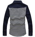 Free shipping 2016 fashion 100% cotton casual male plus size 6xl 7xl 8xl plaid Turn-down Collar  long-sleeve shirt chest 158 cm