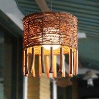 Бамбук Юго Восточной Азии подвесные светильники из Ротанга кафе Чайный дом ресторан в саду гостиная отточить освещения pendan лампы ZAG503