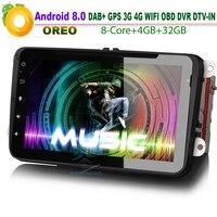 8 Android 8.0 DAB+Sat Nav Car Stereo Autoradio USB GPS WiFi 3G RDS BT DVD CD Bluetooth Car Radio SD DVR DTV for VW Touran