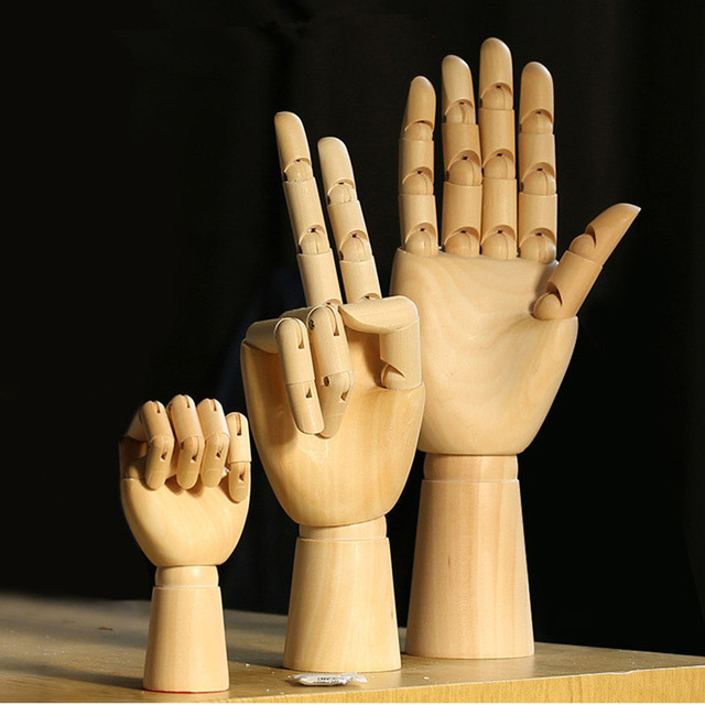 Modelo de Mão de Design de Moda 7/8/10/12 Polegada desenhos animados Flexível conjunta modelo de mão de madeira para desenho esboço suprimentos Decoração