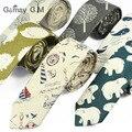 Nuevo Diseñador de Impresión Corbatas Corbata Estrecha Lazos para Los Hombres de Hip-Hop Ocasional Partido Floral de Algodón Flaco Corbata Corbata