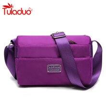 2016 New Casual Women's Handbag Messenger Bag Shoulder Bags Vintage Waterproof Nylon Bag Candy Color Small Bag Glossy Packet