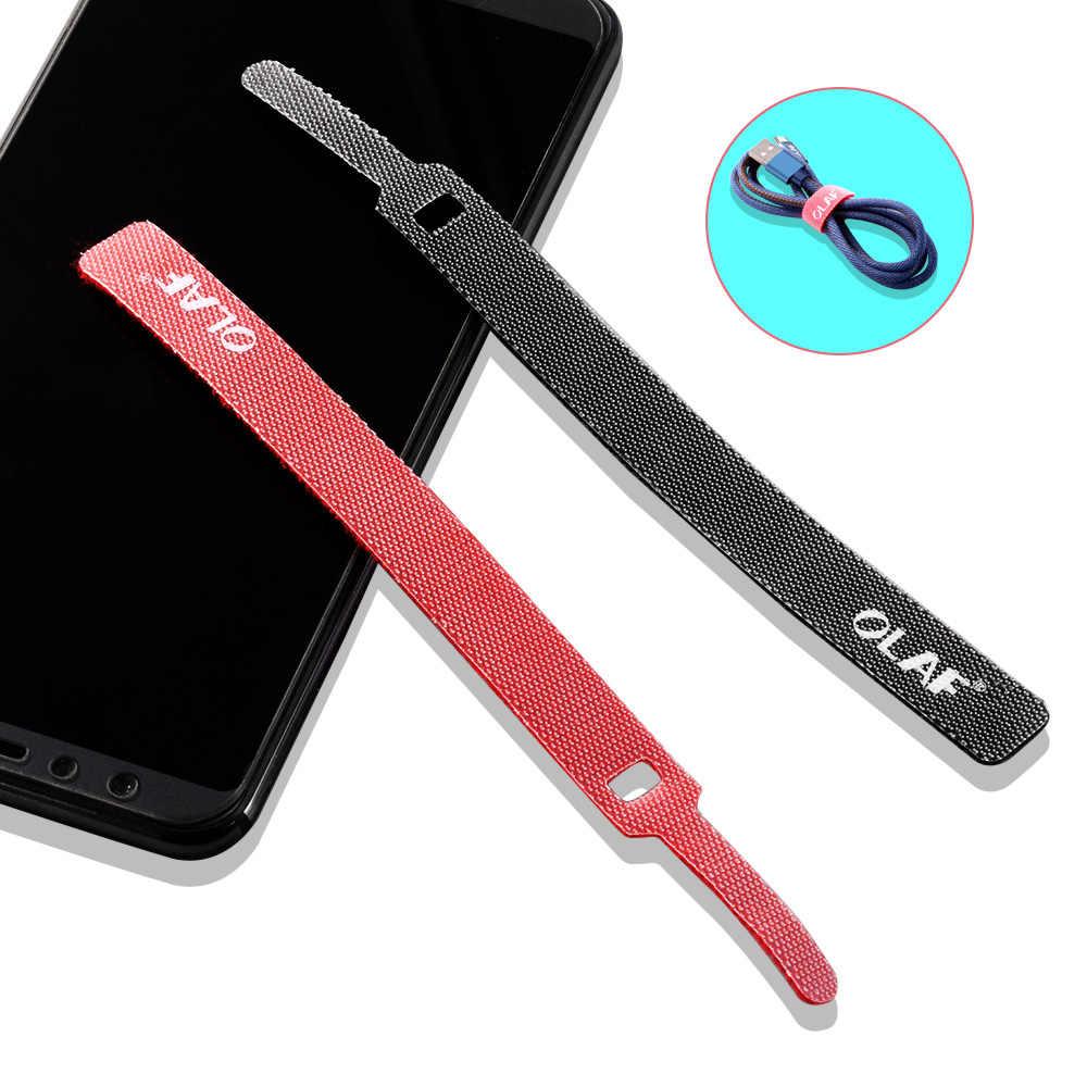 OLAF Cáp Dây Tổ Chức Bảo Vệ Tai Nghe Chuột Aux Loại C Cáp USB Quản Lý Dây Cáp Winder Chủ cho iPhone Micro USB