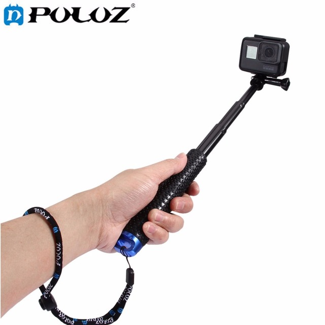 PULUZ For Go Pro Accessories Handheld Extendable Pole Monopod &Screw for DJI Osmo Action/GoPro HERO6/5/5 4 Session/3+/3/2/Xiaoyi