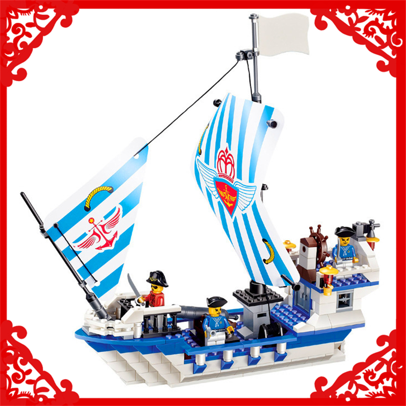 Jie Star 30005 Pirate Ship JS-Dauntless Building Block 301Pcs DIY Educational  Toys For Children Compatible Legoe lepin 22001 pirate ship imperial warships model building block briks toys gift 1717pcs compatible legoed 10210