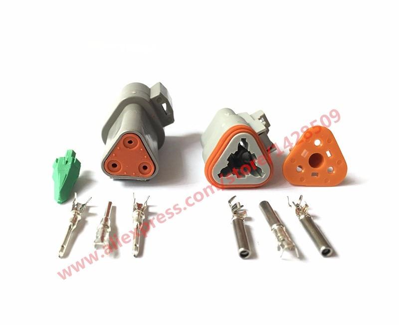 50/100 Set 3 Pin Female Male Waterproof Electrical Wire Connector Plug Deutsch Enhanced Seal Shrink Boot Adapter DT06-3S DT04-3P цены онлайн