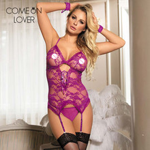 Comeonlover Lace porn lingerie plus size babydoll with handcuffs sexy teddy disfraz erotico mujer RE7600 women sexo lenceria