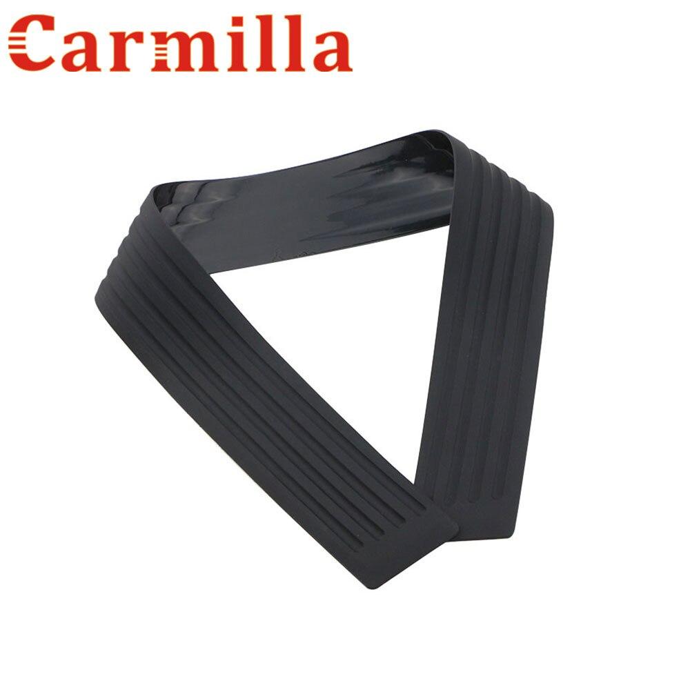 Carmilla Rubber Rear Guard Bumper Protector Trim Cover For Nissan Teana X-Trail Qashqai Sylphy Sunny March Murano Juke Almera