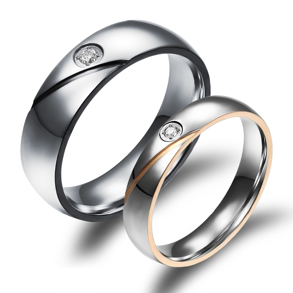 Korean Intertwined Carter Forever Love Ring Charm Cz Diamond Engagement Rings For Stainless Steel Male Women In From Jewelry